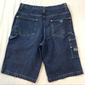 Mens 36 Guess Denim Jean Shorts Blue